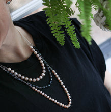Load image into Gallery viewer, Blush Pearls Rosary necklace (round)