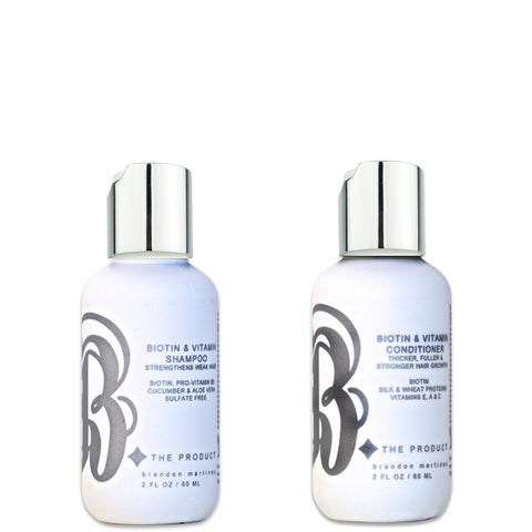 Biotin Hair Growth Shampoo And Conditioner Set 2oz.