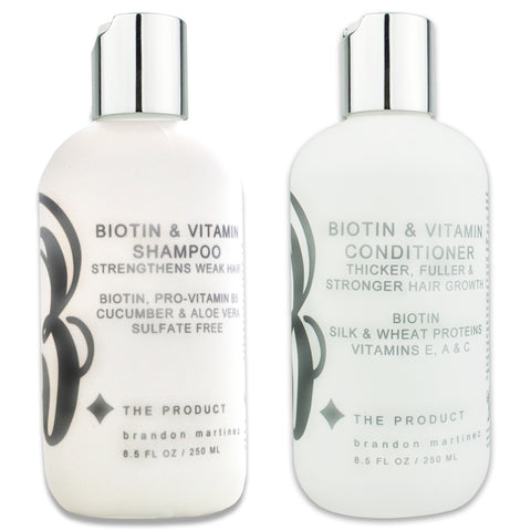 Biotin Hair Growth Shampoo And Conditioner For Hair Growth Set, Sulfate Free With Aloe Vera & Cucumber