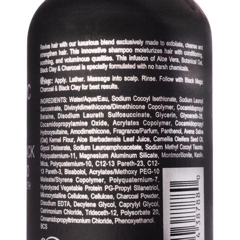 Black Magic Charcoal & Black Clay Detox Shampoo 8.5oz.