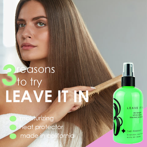 Leave In Conditioner For Detangling & Shine, Blow Dry Spray & Thermal Protector