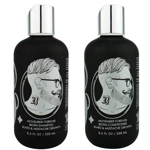 MOVEMBER FOREVER Biotin Beard Growth and Thickening Shampoo + Conditioner Set 8.5oz.