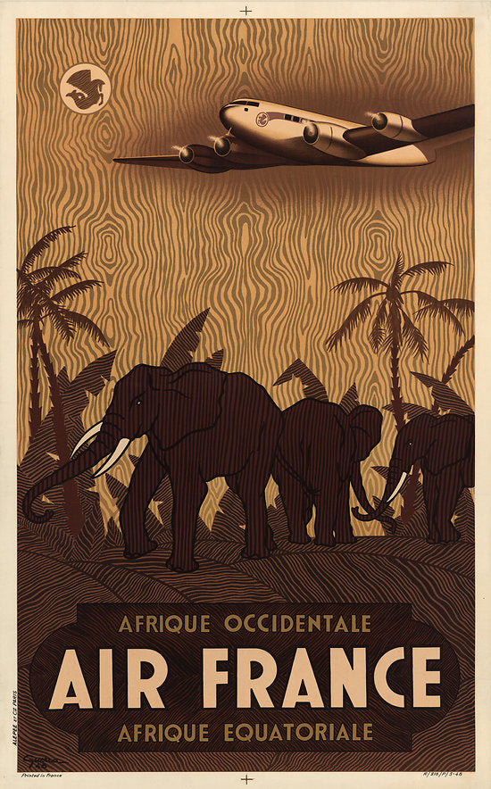 Affiche Air France - Afrique