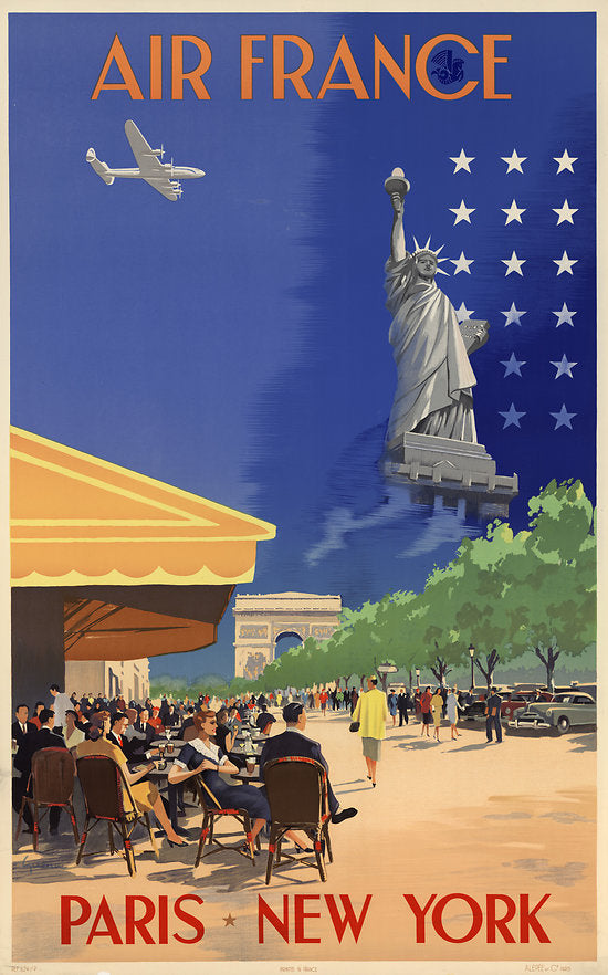 Affiche Air France - Paris - New York