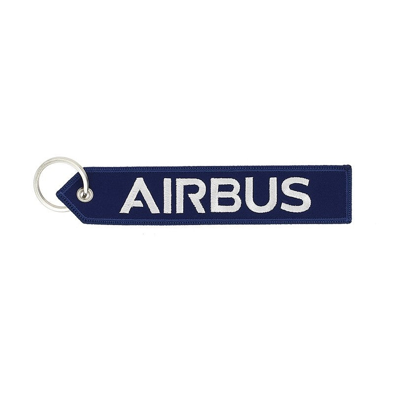 "Porte-Clés Bleu Airbus ""We Make It Fly"""