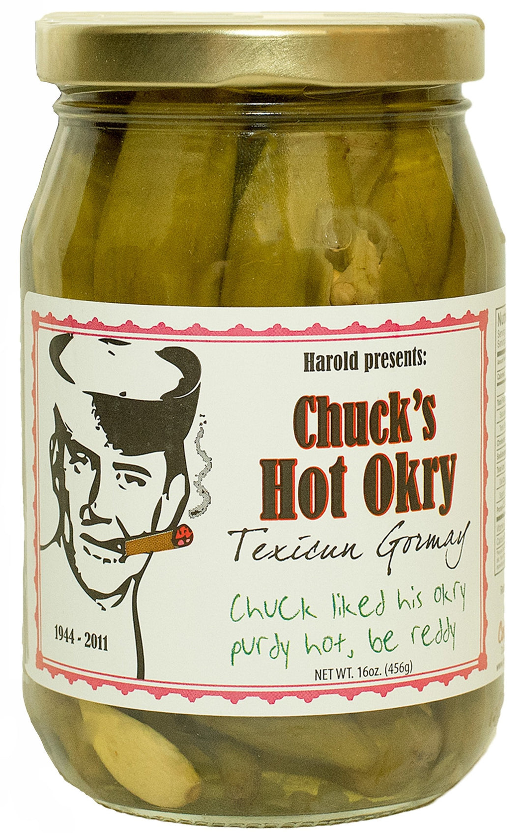 Chuck's Hot Okry - 2, Pint Jars