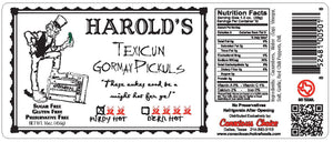Harold's Purdy Hot Pickles  - 2, Pint Jars