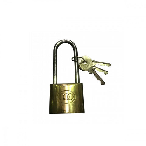 L262 Brass Padlock Long Shackle 25mm Boxed