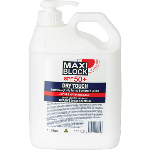 Maxiblock Sunscreen Spf50+ - 2.5L Pump Bottle