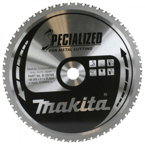 Makita Circular Blade Metal 305mm 78T 25.4mm Bore
