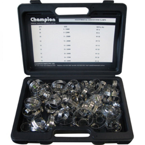 120Pc Stainless Steel Hose Clamp Assortment (Ryco)