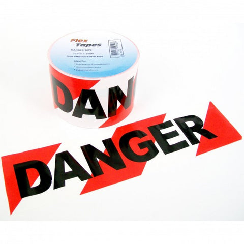 2 Pack Danger Barricading Tape