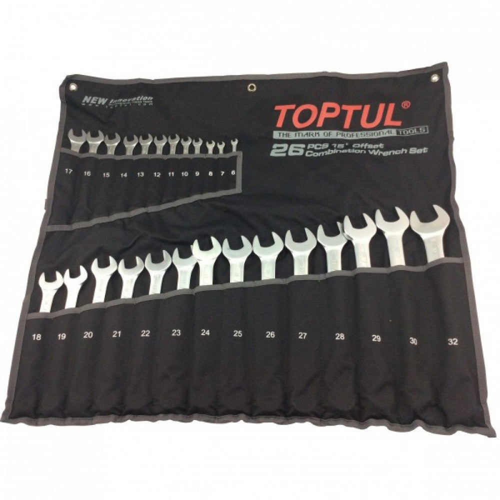 Toptul Metric Roe Wrench Set 6-32mm 26Piece