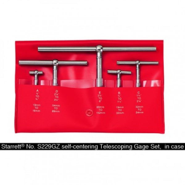 Starrett 5 Piece Telescoping Gage Set