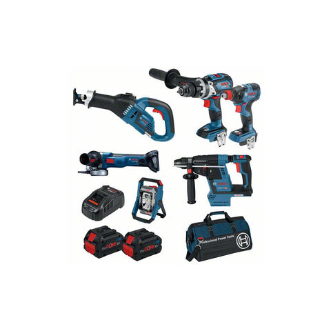 BOSCH 8.0ah ProCORE 18V 6PC Cordless Kit