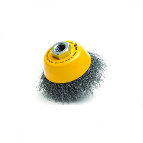 Cup Brush High Speed 75mm x 22mm x 0.3mm - M10 Multi Fit - Coated Steel