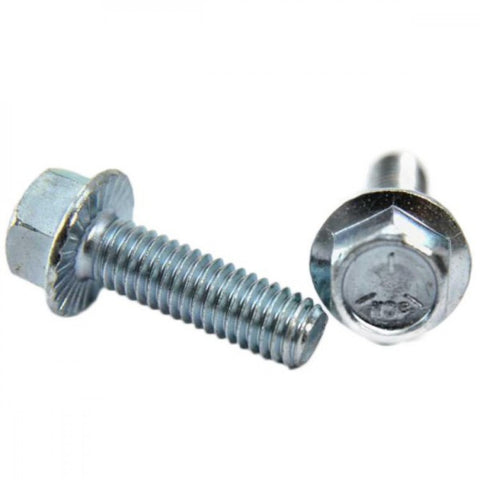 Flange Bolt & Nut ZP UNC 3/8 x 3/4 x 15pc