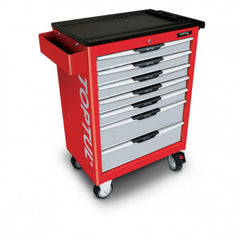 Toptul 7 Drawer Roll Cabinet With Tools 252pce Red