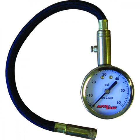 ACCU-GAGE® 11in PRO 0-60PSI - STRAIGHT CHUCK