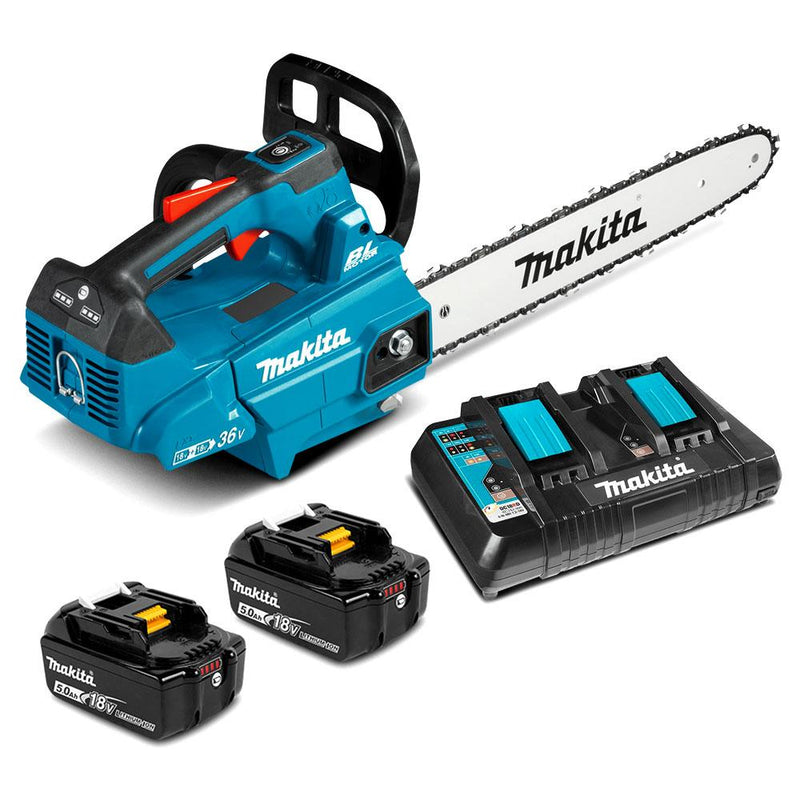 "MAKITA 18Vx2 (36V) LXT Brushless 14"" Top Handle ChainSaw"