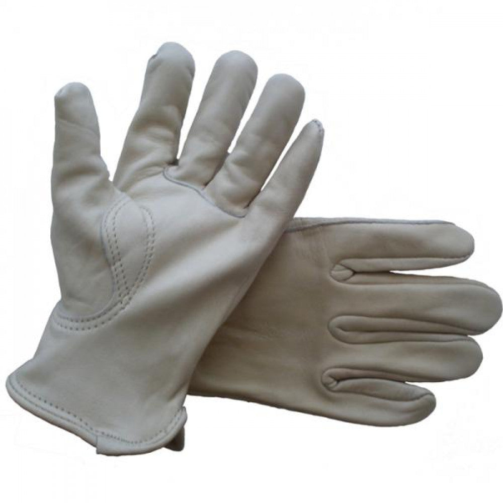 Driver Gloves Full Leather Cowgrain Large Pkt3