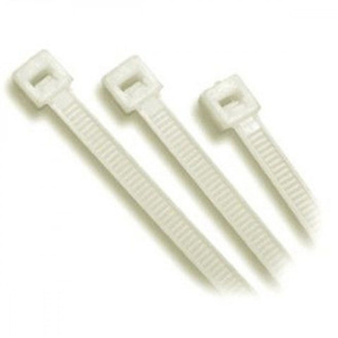 200 x 3.6mm Nylon Cable Tie - Natural - 100Pk