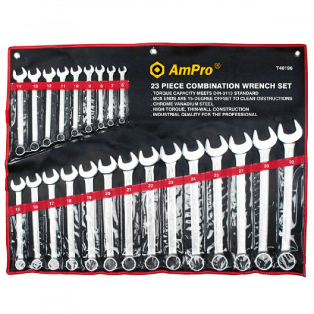 AmPro Combination Wrench Set 23pc-6-32mm