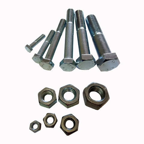 M18 x 30 Metric  10pc Hex Bolt & Nut ZP