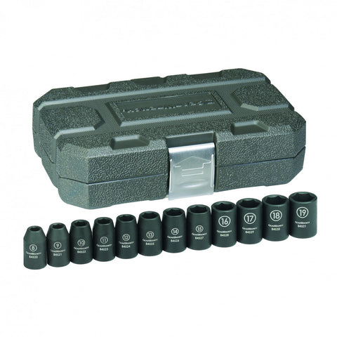 "GearWrench 12Pc 1/2"" Drive 6 Point Standard Impact Metric Socket Set"