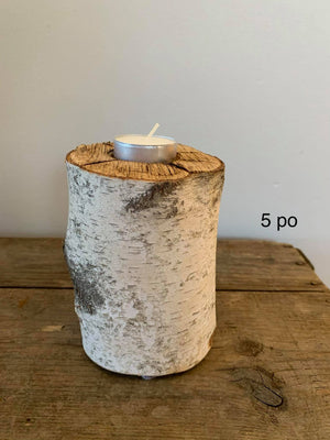 Solo Candleholder - Birch