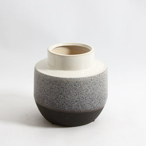 Fatty Ceramic Vase - 3 tones