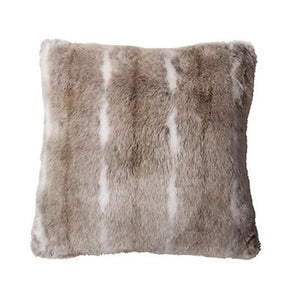Grizzly Faux Fur Cushion - Brown