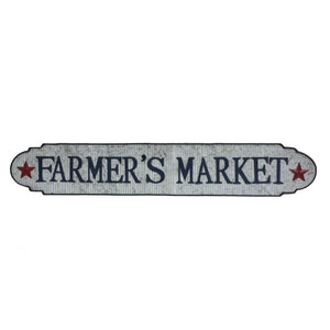 Farmers Market Sign - Silver