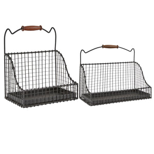 Hanging Wire Baskets - Set of 2