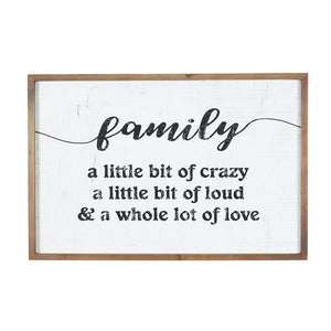 Family Wall Plaque - Ivory