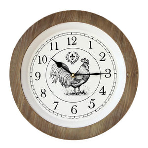 Rooster Clock - Wood