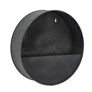 Medium Round Wall Planter - Metal