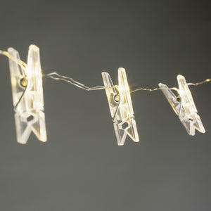 LED Clips Lights String - Natural White