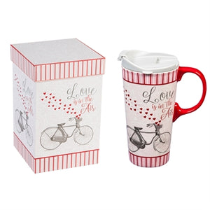 Ceramic Travel Mug - Beautiful Ride Hearts
