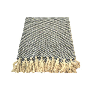 Honeycombs Persia Throw - Blue and Beige