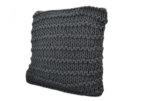 Small Knit Cushion - Grey