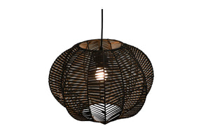 Rattan Hanging Lamp - Black