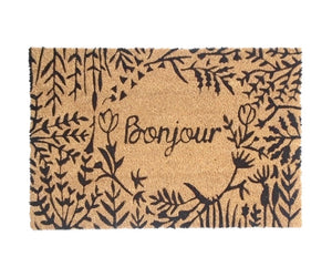 Doormat French Bonjour - Coir Printed