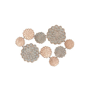 Iron Wall Wart Flowers - Grey