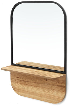 Mirror Shelf - Black and Natural