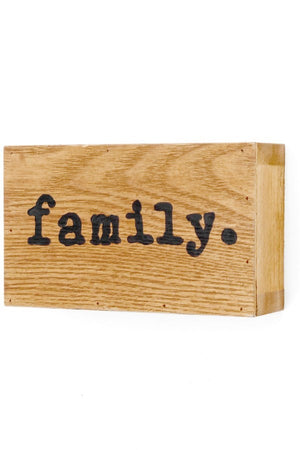 Wood Plaque - Family