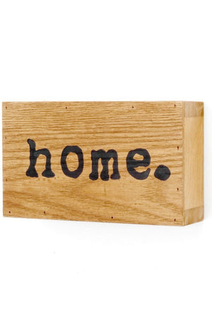 Wood Plaque - Home