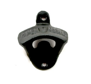Wall Bottle Opener - All Black