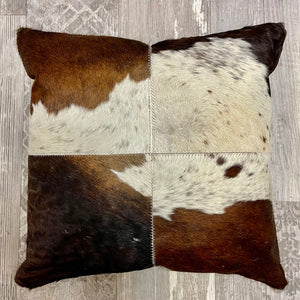 Unique Cowhide Cushion - Dark Brown