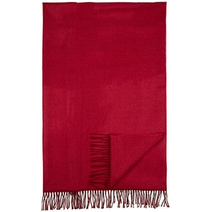 Bamboo Throw - Red Cranberry